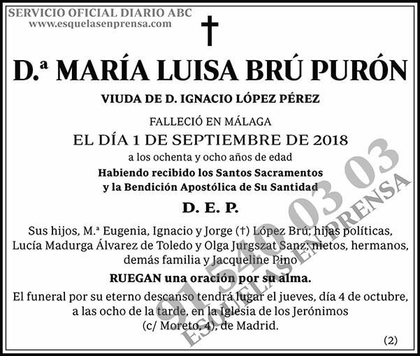 María Luisa Brú Purón